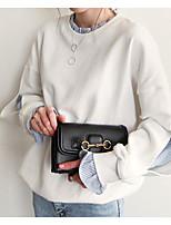 abordables -Femme Mince Pantalon - Bloc de Couleur Blanc / Col Ras du Cou / Sortie