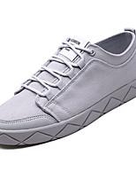 Недорогие -Муж. Комфортная обувь Полотно Осень Кеды Бежевый / Серый / Коричневый