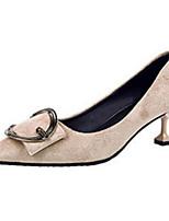 Недорогие -Жен. Комфортная обувь Замша Весна Обувь на каблуках На шпильке Черный / Миндальный / Marron