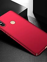 Недорогие -Кейс для Назначение Xiaomi Xiaomi Mi Max 3 Ультратонкий Кейс на заднюю панель Однотонный Твердый ПК для Xiaomi Mi Max 3
