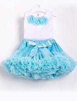 Недорогие -Дети / Дети (1-4 лет) Девочки Цветочный принт Без рукавов Набор одежды