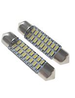 Недорогие -SENCART 2pcs 39mm Автомобиль Лампы 3 W SMD 3014 120-160 lm 16 Светодиодная лампа Внутреннее освещение / Внешние осветительные приборы Назначение