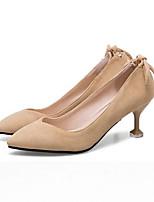 Недорогие -Жен. Балетки Микроволокно Весна Обувь на каблуках На шпильке Черный / Коричневый / Розовый