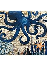 Недорогие -Современный 100 г / м2 полиэфирный стреч-трикотаж Квадратный Салфетки-подстилки Геометрический принт Настольные украшения 1 pcs