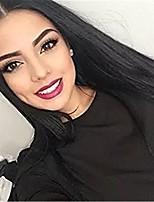 Недорогие -человеческие волосы Remy Полностью ленточные Лента спереди Парик Бразильские волосы Прямой Волнистый Черный Парик Ассиметричная стрижка 130% 150% 180% Плотность волос / с детскими волосами