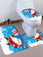 Недорогие -3 предмета Modern Коврики для ванны 100 г / м2 полиэфирный стреч-трикотаж Креатив Прямоугольная Ванная комната обожаемый