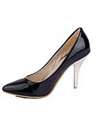 Недорогие -Жен. Балетки Полиуретан Лето Обувь на каблуках На шпильке Красный / Синий / Миндальный