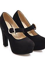 Недорогие -Жен. Комфортная обувь Замша Весна Обувь на каблуках На шпильке Черный / Красный / Розовый