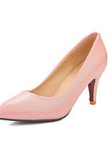 Недорогие -Жен. Комфортная обувь Полиуретан Осень Обувь на каблуках На шпильке Белый / Черный / Красный