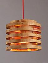 abordables -Batterie/Tambour Lampe suspendue Lumière d'ambiance Bois Bois / Bambou Bois / Bambou Design nouveau 110-120V / 220-240V Ampoule non incluse / E26 / E27