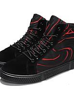 abordables -Homme Chaussures de confort Satin Automne Sportif / British Basket Waterproof Noir et blanc / Noir / Rouge