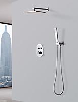 abordables -Robinet de douche - Moderne Chrome Système de douche Soupape céramique