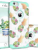 Недорогие -BENTOBEN Кейс для Назначение Apple iPhone 6 Plus / iPhone 6s Plus Защита от удара / С узором Кейс на заднюю панель Фрукты Твердый ПК / силикагель для iPhone 6s Plus / iPhone 6 Plus