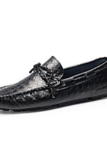 cheap -Men's Formal Shoes Cowhide Spring / Fall & Winter Casual / British Loafers & Slip-Ons Non-slipping Black / Yellow