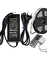 Недорогие -ziqiao 5m smd5050 rgb led strip 60led / m dc12v 300leds& Контроллер 44key rgb led& 12v 5a 60w адаптер питания