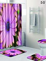 Недорогие -1 комплект Modern Коврики для ванны 100 г / м2 полиэфирный стреч-трикотаж Цветочный принт Прямоугольная Ванная комната Новый дизайн