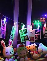 Недорогие -1,2 м Гирлянды 10 светодиоды Разные цвета Декоративная Аккумуляторы AA 1 комплект
