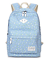 Недорогие -Жен. Мешки холст рюкзак Молнии Темно-синий / Пурпурный / Небесно-голубой