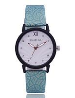 Недорогие -Жен. Наручные часы Кварцевый Творчество Новый дизайн Повседневные часы PU Группа Аналоговый На каждый день Мода Черный / Белый / Синий - Бежевый Зеленый Синий Один год Срок службы батареи