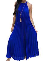 baratos -Mulheres Básico balanço Vestido Sólido Longo