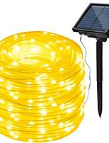 abordables -HKV 10m Guirlandes Lumineuses 100 LED Blanc Chaud / Blanc Froid / RVB Imperméable / Solaire / Soirée Alimentation Solaire 1 set