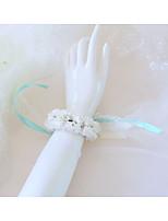 Недорогие -Свадебные цветы Букетик на запястье Свадьба / Свадебные прием Кружево / Шелк 0-10 cm