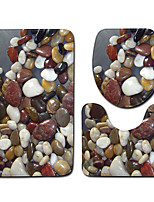 baratos -3 Peças Modern Tapetes Anti-Derrapantes Poliéster Elástico Tricotado 100g / m2 Inovador Retângular Banheiro Criativo