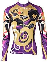 Недорогие -ILPALADINO Муж. Длинный рукав Велокофты - Желтый Мода Велоспорт Верхняя часть Зима, Эластан