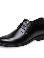 Недорогие -Муж. Комфортная обувь Полиуретан Осень На каждый день Туфли на шнуровке Доказательство износа Черный