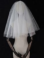 Недорогие -Четыре слоя Старинный / Винтажная коллекция Свадебные вуали Фата до локтя с Однотонные Тюль