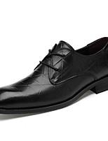 abordables -Homme Chaussures Formal Cuir Nappa Printemps été / Automne hiver Business / Britanique Oxfords Ne glisse pas Noir / Marron
