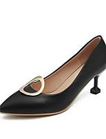 Недорогие -Жен. Fashion Boots Лакированная кожа Осень Обувь на каблуках На шпильке Закрытый мыс Ботинки Белый / Черный / Розовый