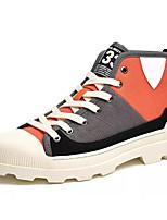 Недорогие -Муж. Армейские ботинки Полотно Осень Кеды Серый / Красный / Зеленый