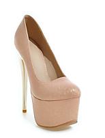 Недорогие -Жен. Комфортная обувь Лакированная кожа Весна Обувь на каблуках На шпильке Черный / Розовый / Миндальный