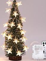 Недорогие -5 метров Гирлянды 40 светодиоды Тёплый белый Декоративная Аккумуляторы AA 1 комплект