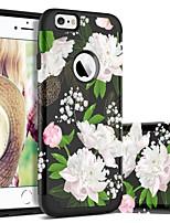 billiga -BENTOBEN fodral Till Apple iPhone 6 / iPhone 6s Stötsäker / Mönster Skal Blomma Hårt PC / Kiselgel för iPhone 6s / iPhone 6