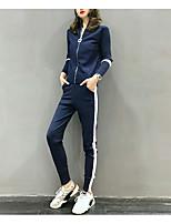 baratos -Mulheres Moda de Rua Conjunto Estampa Colorida Calça