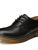 cheap -Men's Comfort Shoes Cowhide Spring & Summer / Fall & Winter Sporty / Vintage Oxfords Non-slipping Black / Brown / Wine