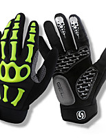 baratos -SPAKCT Luvas Esportivas Luvas de Ciclismo Respirável / Anti-Shake / Anti-Derrapante Dedo Total fibra superfina / Gel De Silicone Ciclismo / Moto Homens / Mulheres