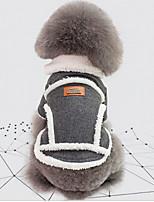 baratos -Cachorros Jaqueta Roupas para Cães Formais / Vintage Cinzento / Khaki Algodão Ocasiões Especiais Para animais de estimação Unisexo Mantenha Quente / A prova de Vento