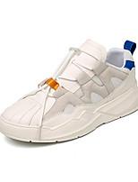 Недорогие -Муж. Комфортная обувь Полиуретан Весна & осень На каждый день Кеды Дышащий Белый / Черный / Бежевый