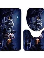 Недорогие -3 предмета Modern Коврики для ванны 100 г / м2 полиэфирный стреч-трикотаж Новинки Прямоугольная Ванная комната Градиент цвета