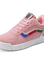 baratos -Mulheres Sapatos Confortáveis Couro Ecológico Inverno Esportivo / Casual Tênis Sem Salto Ponta Redonda Preto / Cinzento / Rosa claro