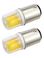Недорогие -2pcs 2.5 W 200 lm BA15D Двухштырьковые LED лампы 1 Светодиодные бусины COB Тёплый белый / Холодный белый 220-240 V / 110-120 V