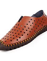 abordables -Homme Chaussures de confort Polyuréthane Eté Mocassins et Chaussons+D6148 Blanc / Bleu de minuit / Marron