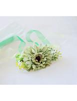 Недорогие -Свадебные цветы Букетик на запястье Свадьба / Свадебные прием Шелк / Ткань 0-10 cm