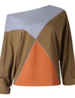 abordables -Tee-shirt Femme, Géométrique / Couleur Pleine Actif / Basique