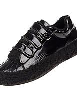 Недорогие -Жен. Комфортная обувь Полиуретан Зима На каждый день Кеды На плоской подошве Черный / Серый