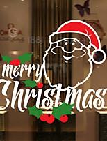 Недорогие -Оконная пленка и наклейки Украшение Рождество Праздник ПВХ Стикер на окна / Высокой прозрачности
