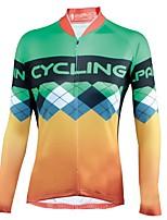 Недорогие -ILPALADINO Жен. Длинный рукав Велокофты - Желтый Мода Велоспорт Джерси, Ультрафиолетовая устойчивость 100% полиэстер